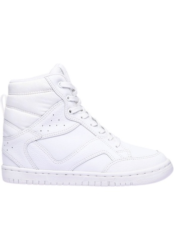 paperplanes white Paperplanes-1332 Casual Taller Insole High Top Lace Up Sneakers Shoes US Women Size PA355SH38PHHSG_1