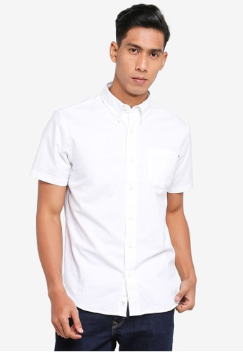 Timberland white Short Sleeve Pleasant River Stretch Oxford Regular Shirt B75CAAA1247F89GS_1