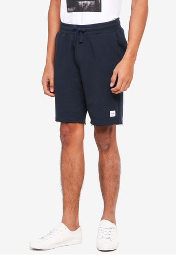 Only & Sons blue Christian Raw Sweat Shorts Exp 8D886AA1D511A0GS_1