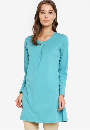 Aqeela Muslimah Wear blue Basic Top 4511BAA92559F0GS_1