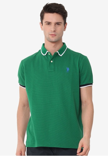 U.S. Polo Assn. green Men's Basic Classic Fit Sport Polo Shirt A6E85AAF26518EGS_1