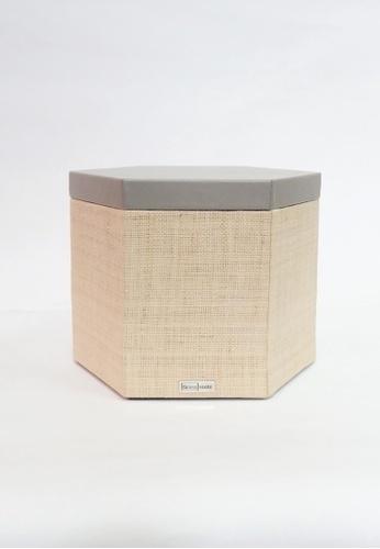 Grassroots grey Hexagonal Box (Large) C6124HLDB3C0EEGS_1