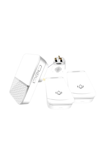 MEDPRO Long Distance Wireless Doorbell for Patients at Home - 2 Call Bells with 1 Ring Speaker (Local Plug) for Toilet & Bedside 5BB87ESC8E1C00GS_1