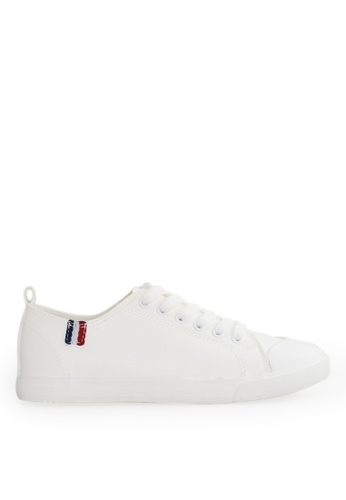 Footspot white FOOTSPOT - Easy-match Lace-up Casual Shoes BED4FSH57EDCFBGS_1