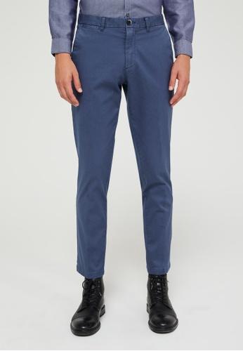 Sisley blue Cropped slim fit chinos C7ECDAACE6523CGS_1