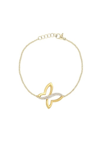 Morellato yellow Battito Bracelet SAHO13 Jewel Rhodium-Plated In Silver PVD Gold Crystals E8BF7ACF2A040DGS_1