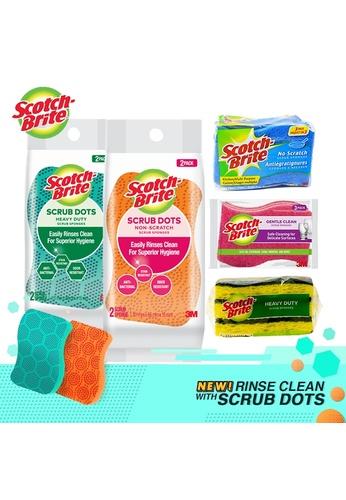 Scotch-Brite [KITCHEN HERO PACK] 3M Scotch-Brite Scrub Dots Heavy duty 2pcs + Scrub Dots Non Scratch 2pcs + Heavy Duty Sponge 3pcs + Delicate Songe 3pcs + Non Scratch Sponge 3pcs EDDAAHLC8228C2GS_1
