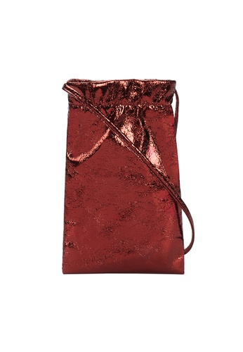 Parfois red Metallic Mobile Phone Bag With Shoulder Strap 892F5ACDADE016GS_1