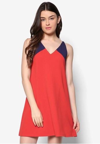 低胸挖背直筒zalora退貨連身裙, 服飾, 夏日洋裝