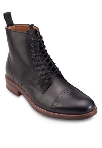 Beoduca esprit hk store沖孔繫帶高筒靴, 鞋, 鞋