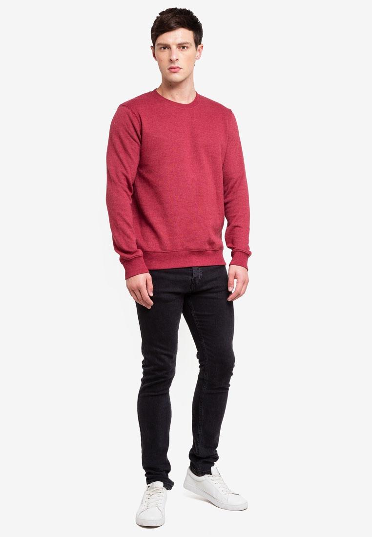 Neck Sweatshirt Marl London Red Menswear Burton Red Crew Eqgw6zP