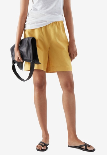 COS yellow Relaxed-Fit Shorts 6DF22AA6A4F298GS_1