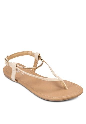 Cosmo 金飾夾腳涼鞋,esprit鞋子 女鞋, 鞋