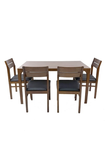 Born In Colour Kaizen Japandi 4 Seater Dining Set (1400) (Table & 4 chairs) 41C93HL96810B6GS_1
