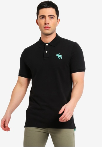 0d7b0626b Abercrombie & Fitch black Exploded Icon Polo Shirt D6167AA725A25EGS_1