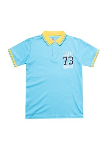 Cardinal Kids blue Short Sleeves Polo Shirt D394DKA527FEA0GS_1