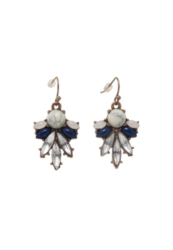 Jaysa Collection white Mellow Yellow Resin Crystal Dangle Earrings 7480BACC22892BGS_1