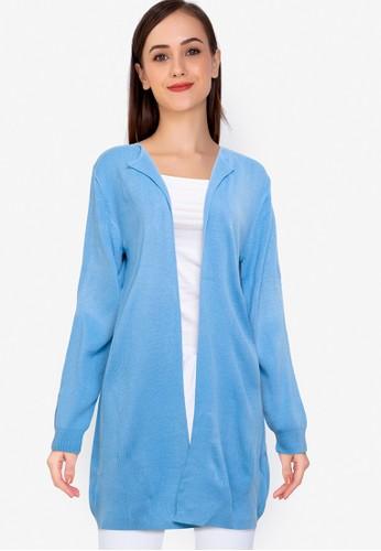 Noir Sur Blanc blue Ladies Long Cardigan CF719AAE572A37GS_1