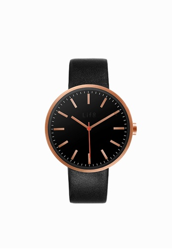 Life8 black and gold Casual Sapphire Pure Scale Watch (Two Straps)-05252-Black and Gold LI248AC2UXK1HK_1