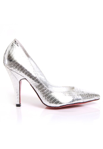 MARCHÉ WM silver Silver Leather Pumps MA828SH14MOZHK_1
