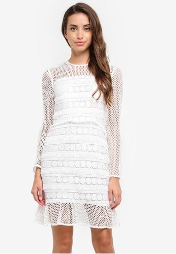 River Island white White Long Sleeve Lace Dress 73B80AAF748F7AGS_1