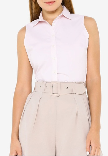 Banana Republic pink Riley Tailored-Fit Sleeveless Shirt 8076DAA234A251GS_1