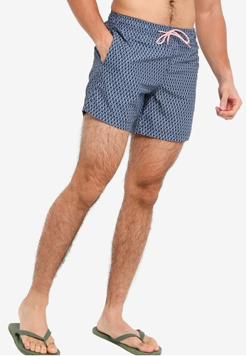 H&M blue and multi Printed Swim Shorts 948D7US3B69A3DGS_1