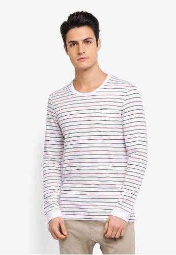 ESPRIT white Long Sleeve T-Shirt ES374AA0T188MY_1