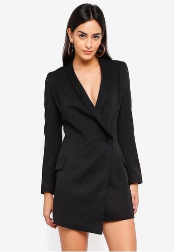 5507e4668afc3 Buy MISSGUIDED Asymmetric Blazer Dress Online on ZALORA Singapore
