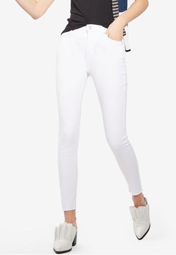 TOPSHOP white MOTO White Raw Hem Jamie Jeans TO412AA87TFSMY_1