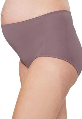 Mamaway purple Anti-bacterial High-rise Briefs (2 Pack) 97961USD8F4844GS_1