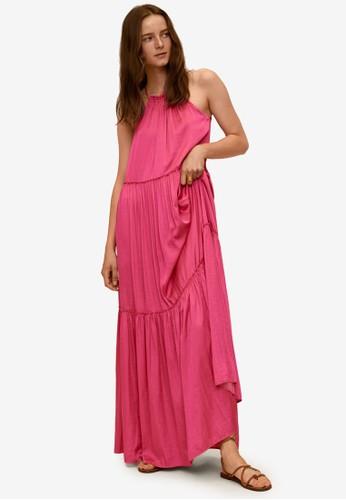 Mango pink Flared Long Dress 2152BAA1C729F4GS_1