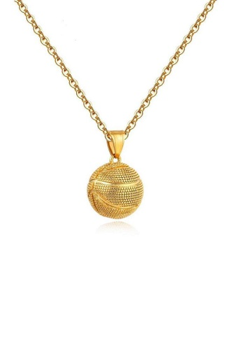 ADORA gold Stainless Steel Gold Pendent Necklace 5DD9AAC171688FGS_1