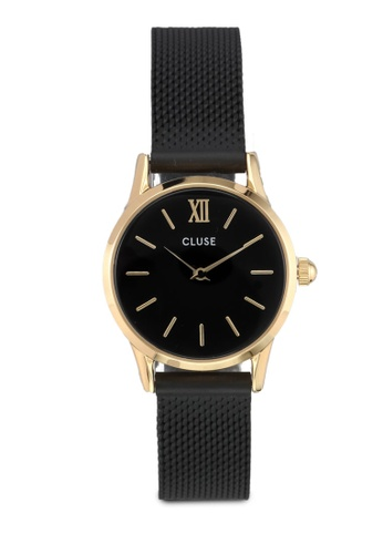 CLUSE black La Vedette Mesh Gold Black/Black Watch CL977AC0SA2DMY_1