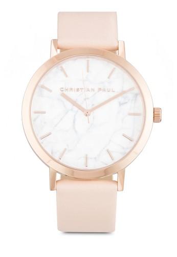 Bondi  43mm 大理石錶盤刻度zalora鞋圓錶, 錶類, 飾品配件