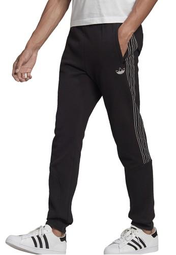 ADIDAS black sprt 3-stripes sweat pants 16750AA6694A57GS_1