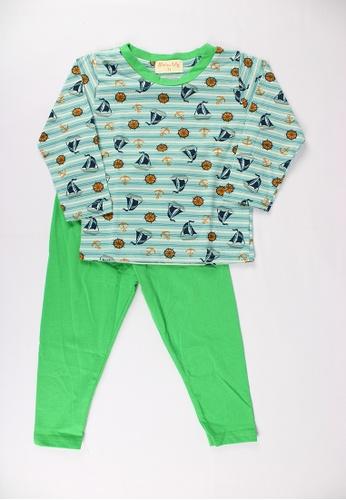 Mellow green Mellow Baby Allover Yatch Print Top Sleepwear D3005KADBDC82AGS_1