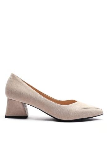 Twenty Eight Shoes beige 4.5CM Pointy Pumps 998-2 F699ASH3817E27GS_1