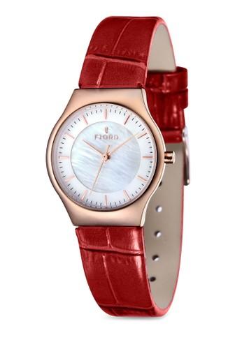 OLLE 三指針皮革錶, 錶類, 飾品配esprit taiwan件