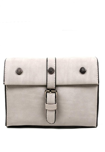 Vintage Paris grey Yara Cross Body Sling Bag VI567AC0IW0APH_1