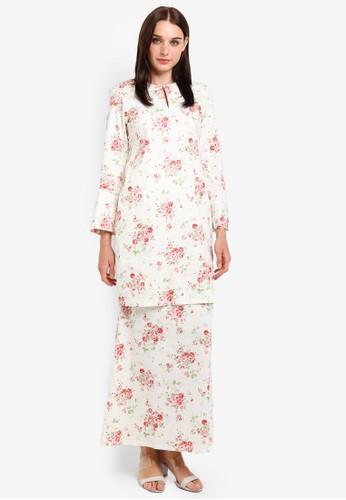 Butik Sireh Pinang white and multi Maissa Modern Kurung 02855AA1FE5867GS_1