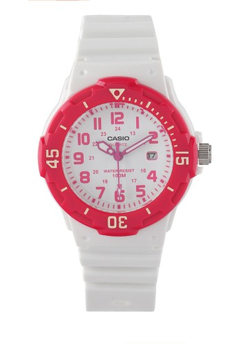 Casio white and pink Women Analog Watches Lrw-200H-4Bvdf 8CA92AC27EF4EAGS_1