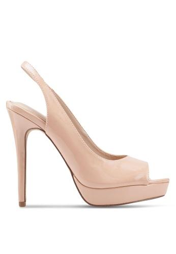 395dcfa0308 ALDO beige Hislop Peep Toe Slingback Stiletto Heels ED933SH6AF66E7GS 1