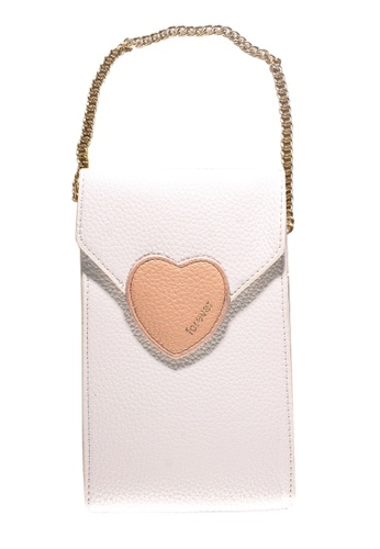 Treasure by B & D white Women PU Sling Bag Heart Lock Design White TR022AC0K5KKPH_1