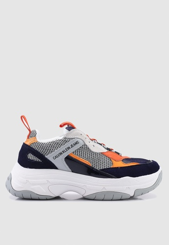 Calvin Klein multi and navy Marvin Sneakers 65A06SH10B3B8AGS_1