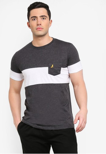 Brave Soul grey Pious T-Shirt with Cut and Sew Detail EDE0AAA0458824GS_1