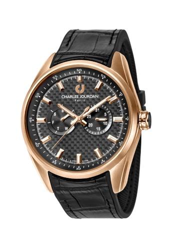 Charles Jourdan gold Charles Jourdan Men Watch Multi-Function Quartz CJ1039-1532M 14B5BACE62445DGS_1