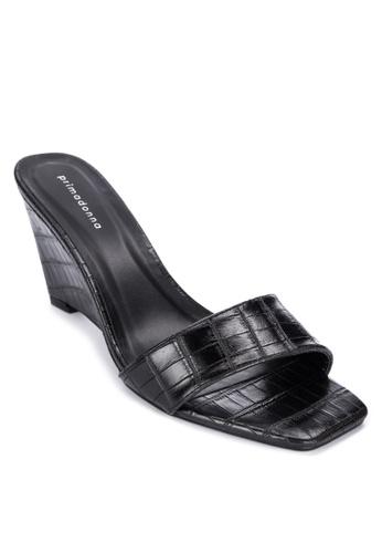 Primadonna black Wedge Sandals DE401SHC768675GS_1