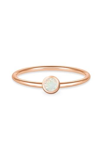Aquae Jewels pink Ring My BirthStone Opal – October, 18K Gold - Rose Gold 4C198ACF745B03GS_1