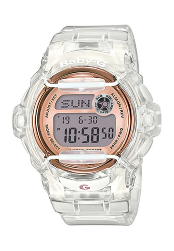 CASIO Casio Baby-G Rose Gold and Transparent Resin Watch D4F74AC5A83EE2GS_1